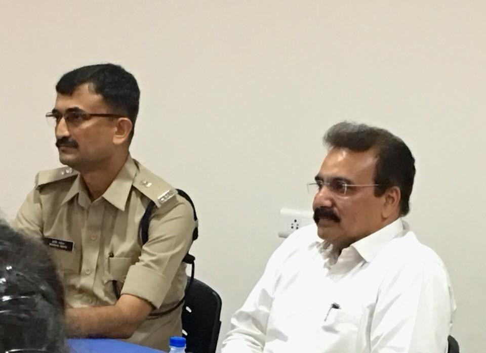 Principal Dr. Nidatt Barot with ACP Harshad Mehta