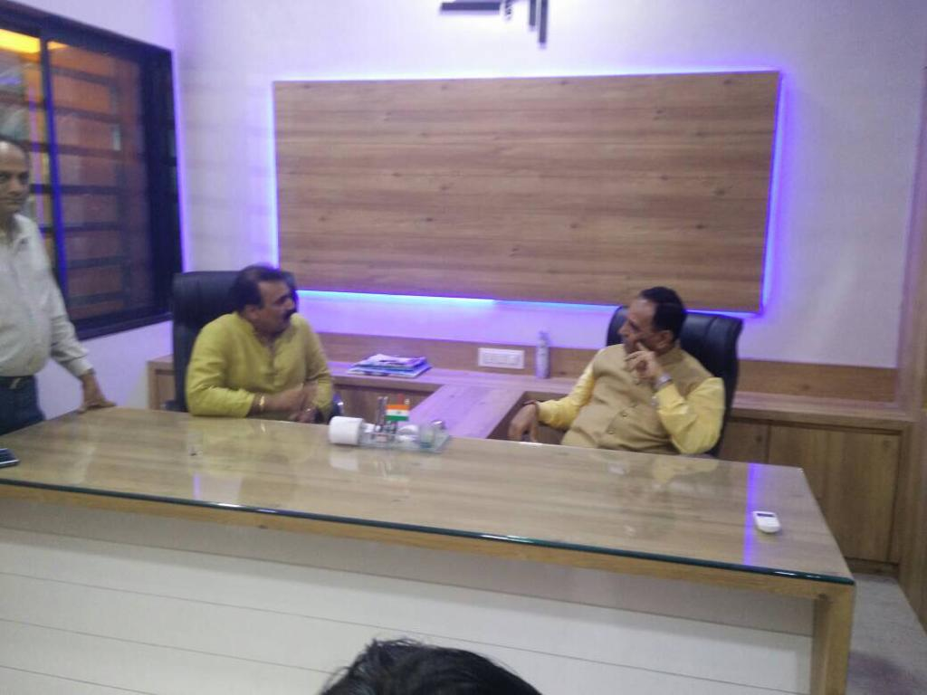 Dr Nidatt Barot with CM Shree Vijay Rupani